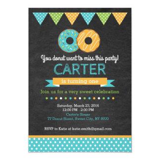 Invitation d'anniversaire de beignet