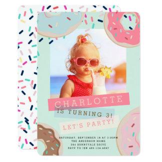 Invitation d'anniversaire de beignet - Mlle This
