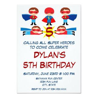 Invitation d'anniversaire de caractère de bande carton d'invitation  11,43 cm x 15,87 cm