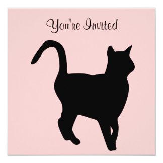 Invitation d'anniversaire de chat noir