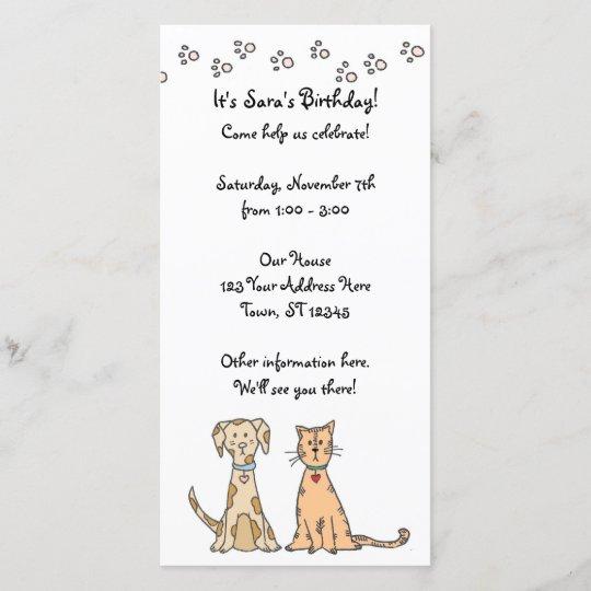 invitation d 39 anniversaire de chien et de chat. Black Bedroom Furniture Sets. Home Design Ideas