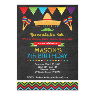 Invitation d'anniversaire de Cinco De Mayo
