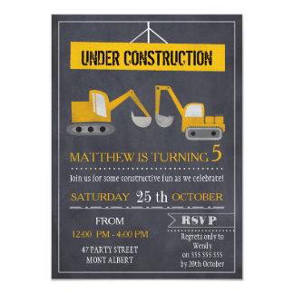 Invitation d'anniversaire de construction de