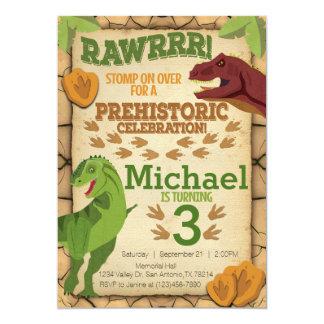 Invitation d'anniversaire de dinosaure, invitation
