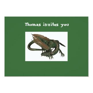 Invitation d'anniversaire de dragon