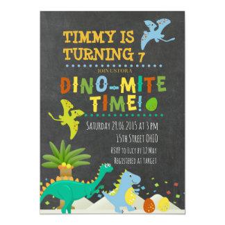 Invitation d'anniversaire de enfant de dinosaure