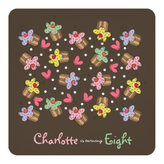 Invitation d'anniversaire de enfant de petits carton d'invitation  13,33 cm