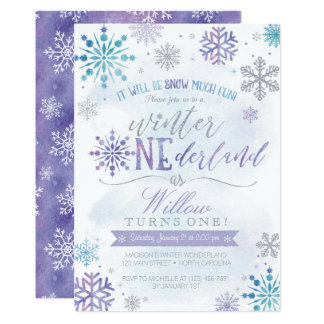 Invitation d'anniversaire de flocon de neige