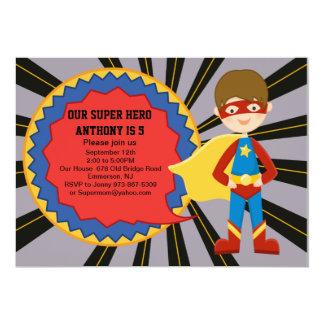 Invitation d'anniversaire de garçons de superhéros
