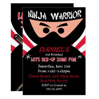 Invitation d'anniversaire de guerrier de Ninja
