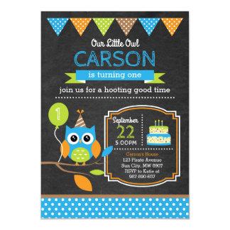 Invitation d'anniversaire de hibou