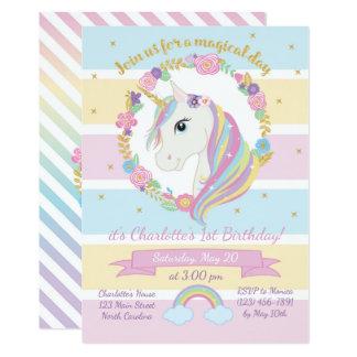 Invitation d'anniversaire de licorne