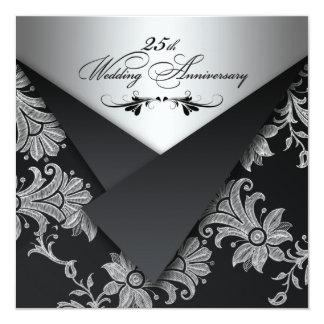 Invitation d'anniversaire de mariage d'ailerons de