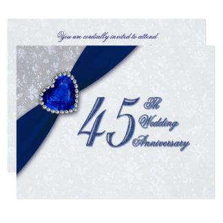 Invitation d'anniversaire de mariage de damassé