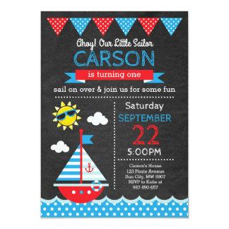 Invitation d'anniversaire de marin
