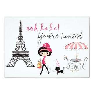 Invitation d'anniversaire de Paris de fille