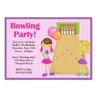Invitation d'anniversaire de partie de bowling