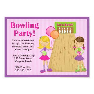 Invitation d'anniversaire de partie de bowling carton d'invitation  12,7 cm x 17,78 cm