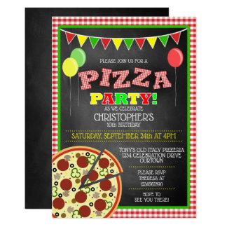 Invitation d'anniversaire de partie de pizza