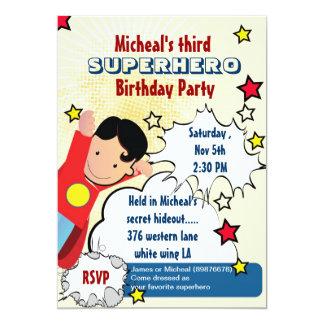 Invitation d'anniversaire de partie de super héros carton d'invitation  12,7 cm x 17,78 cm