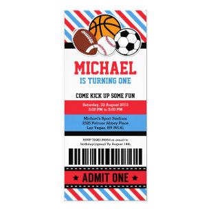 Invitations Faire Part Cartes D Anniversaire Rugby Zazzle Fr