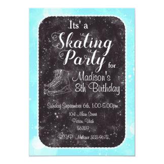 Invitation d'anniversaire de patinage artistique