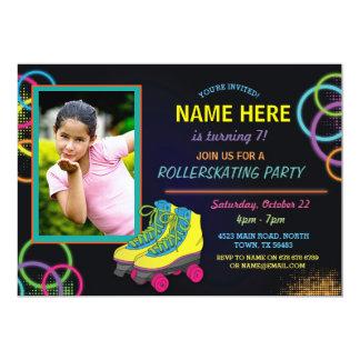 Invitation d'anniversaire de patinage de rouleau