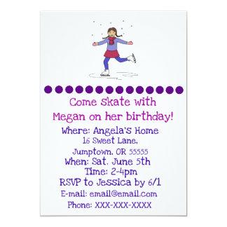 Invitation d'anniversaire de patineur artistique