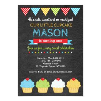 Invitation d'anniversaire de petit gâteau