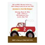 Invitation d'anniversaire de photo de camion de carton d'invitation  12,7 cm x 17,78 cm