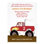 Invitation d'anniversaire de photo de camion de mo