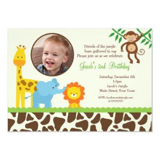 Invitation d'anniversaire de photo de safari de