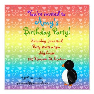 Invitation d'anniversaire de pingouin