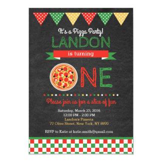 Invitation d'anniversaire de pizza
