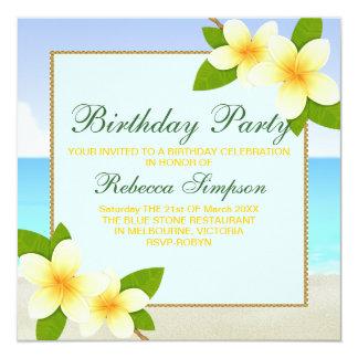 Invitation d'anniversaire de plage et de