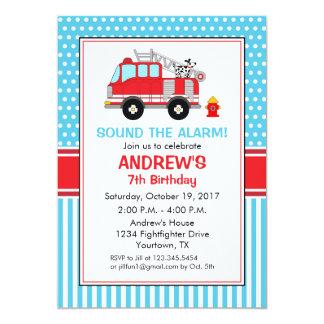 Invitation d'anniversaire de pompier