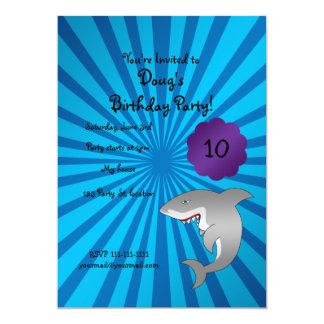Invitation d'anniversaire de requin carton d'invitation  12,7 cm x 17,78 cm