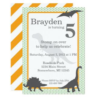 Invitation d'anniversaire de Rex de Tyrannosaurus