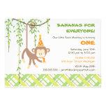 Invitation d'anniversaire de singe