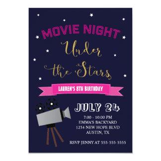 Invitation d'anniversaire de soirée cinéma - sous