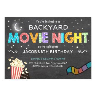 Invitation d'anniversaire de soirée cinéma sous