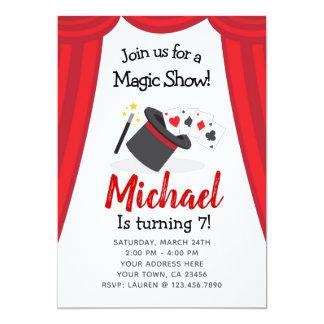 Invitation d'anniversaire de spectacle de magie