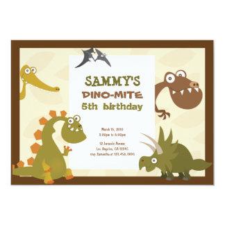 Invitation d'anniversaire de terre de dinosaure