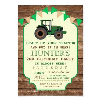 Invitation d'anniversaire de tracteur,
