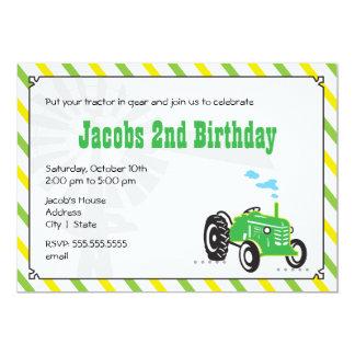 Invitation d'anniversaire de tracteur