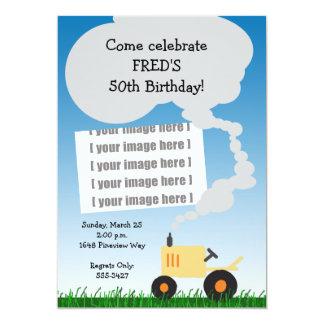 Invitation d'anniversaire de tracteur : Tracteur