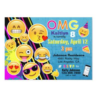 Invitation d'anniversaire d'Emoji