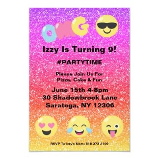 Très Anniversaire Emoji Cartes, Invitations, Photocartes et faire-part  GL15