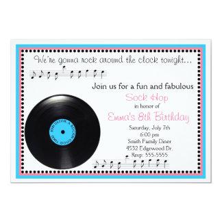 Invitation d'anniversaire des années 1950