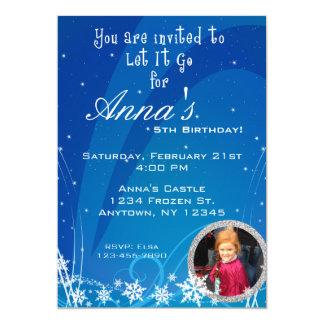 Invitation d'anniversaire d'hiver avec l'image
